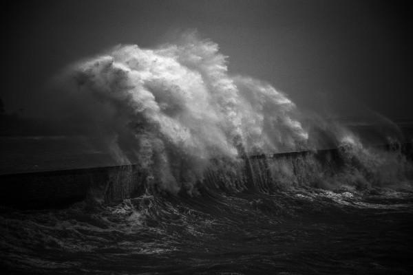 Christian Bosramier - La vague - Papier monochrome